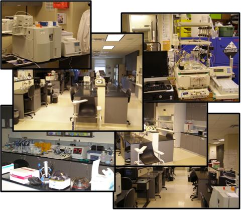 Collage of the Eastview lab